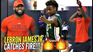 Download LeBron James Jr CATCHES FIRE w/ LeBron LOVING Every Second of It!! Proud Dad LeBron! Video