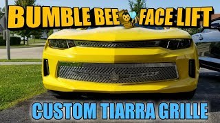 Download INSTALLING CUSTOM GRILLE ON MY 2016 CAMARO AKA BUMBLE BEE Video