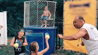 Download Girls Dunk Boys in the Tank but Fail | Dunk Tank Game Challenge Who is Better Boys or Girls Video