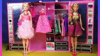 Download Barbie Wardrobe Set: Barbie Style Ultimate Closet, Barbie Doll Dresses Clothes Hangers & Shoes Video