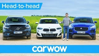 Download BMW X2 vs Volvo XC40 vs Jaguar E-Pace - which is the best small SUV? | Head-2-Head Video