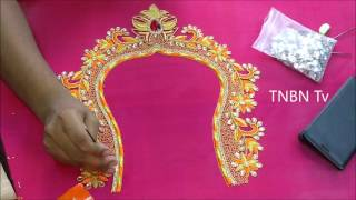 Download simple maggam work blouse designs | embroidery for beginners stitches | aari work blouse designs Video
