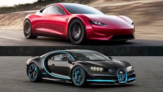Download 2020 Tesla Roadster Vs 2018 Bugatti Chiron - Top Speed!! Video
