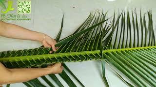 Download Hướng dẫn đan cọng lá dừa bằng 2 cách đơn giản nhất-CLB thắt lá dừa Bến Tre Video