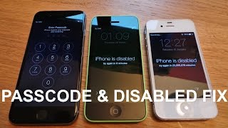 Download How to remove/reset any disabled or Password locked iPhones 6S & 6/Plus/SE/5s/5c/5/4s/4/iPad or iPod Video
