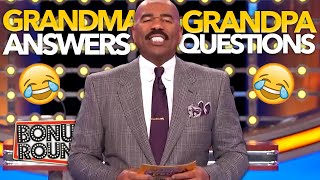 Download STEVE HARVEY ASKS GRANDMA AND GRANDPA Questions And Answers! Family Feud USA Video