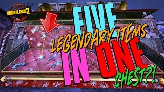 Download 5 LEGENDARY ITEMS IN 1 CHEST - INFINITY PISTOLS?! #Borderlands Funny Moments Video