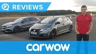 Download Mercedes A45 AMG vs Honda Civic Type R Drag Race | Mat Watson Reviews Video
