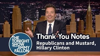 Download Thank You Notes: Republicans and Mustard, Hillary Clinton Video