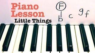 Download Little Things- Piano Lesson (EASY)- One Direction (Todd Downing) Video