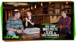 Download SciShow Talk Show: Environmental Engineer Mike Potts & Slick the Tiger Salamander Video