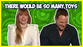 Download Bryce Dallas Howard Makes Chris Pratt Laugh So Hard   Jurassic World: Fallen Kingdom Video