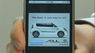 Download Greystripe Flash and Immersion Ad for Kia in iPhone app Video