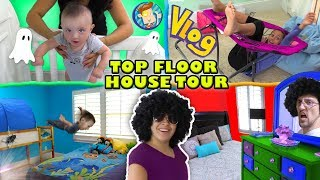 Download HOUSE TOUR 1 0 The Top Floor w Lexi, Shawn, Chase, Mom & Dad Rooms FUNnel Family Vlog Video