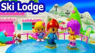 Download Christmas Winter Holiday Ski Lodge Playset Pinypon Frozen Water Ice Skating Ski Snowman Cookieswirlc Video