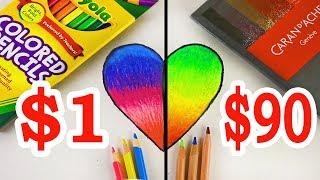Download $90 LUXURY Color Pencils VS $1 CRAYOLA Color Pencils: Which is worth the money? Video