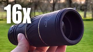Download 16x52 HD 16x Magnification Zoom Monocular by ARCHEER review Video