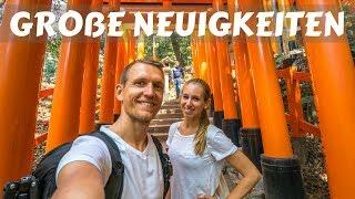 Download GROßE NEUIGKEITEN • Kyoto Arashiyama Bamboo Forest • Fushimi Inari Schrein • Weltreise   VLOG #346 Video