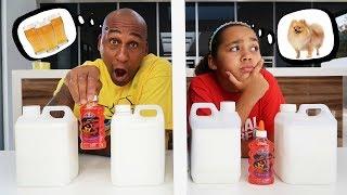 Download TWIN TELEPATHY SLIME CHALLENGE VS MY DAD Video
