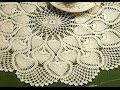 Download Patrón para tejer tapete/carpeta motivos piñas a crochet Video