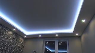 Download РЕМОНТ КВАРТИР СПб. Как сделать потолочный короб с подсветкой своими руками. ( Ниша в коробе) Video