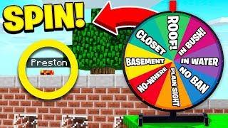 Download WORST LUCK EVER! | Wheel of Fortune in HIDE & SEEK! - Minecraft Mods Video