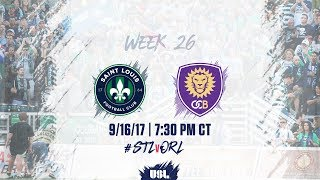 Download USL LIVE - Saint Louis FC vs Orlando City B 9/16/17 Video