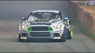 Download Drift champ Vaughn Gittin Jr. smokes the Festival of Speed hillclimb with his Mustang RTR Video