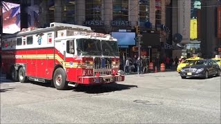 Download Happy National 10-26 Day(Thanksgiving) FDNY Fire Trucks Responding Blasting Their Sirens & Air Horns Video