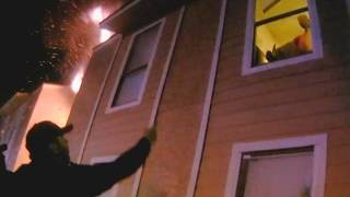 Download 10-Year-Old Boy Leaps from Window of Burning Building Video
