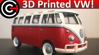 Download 3D Printed Model Car! - Volkswagen Bus Video