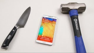 Download Samsung Galaxy Note 3 Hammer & Knife Test Video
