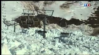 Download Avalanche Destroys Ski Lift Video