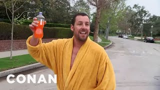 Download Adam Sandler Hunts Down Conan In Los Angeles Video