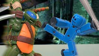 Download TMNT 2017 Stop Motion Leonardo VS Stikbot Special! Video