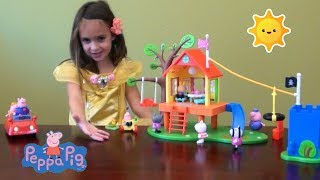 Download Peppa Pig Story: Peppa Pig's Treehouse and George's Fort Play Time Story with Peppa PigToys Video