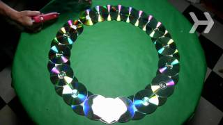 Download How to Make a Wreath Out of Old CDs Video