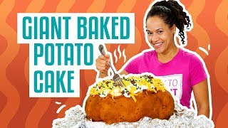 Download How To Make Your FAVE COMFORT FOOD out of CAKE! GIANT BAKED POTATO | Yolanda Gampp | How To Cake It Video