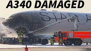 Download LUFTHANSA A340 DAMAGED Due to TUG FIRE Video