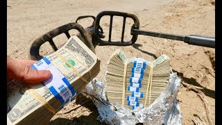 Download FOUND MONEY METAL DETECTING ABANDONED STASH HOUSE!!! Video