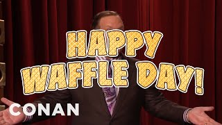 Download Andy Celebrates National Waffle Day! - CONAN on TBS Video