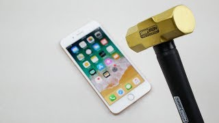 Download iPhone 8 Plus Hammer & Knife Scratch Test Video