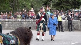 Download The Queen inspects the guard of honour at the gates of Balmoral Castle and Estate Aug 2018 Video