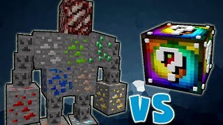 Download LUCKY BLOCK SPIRAL VS. MONSTRO DE ORE!! (ORE GOLEM MINECRAFT) Video