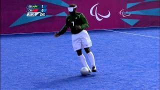 Download Football 5-a-side - BRA vs CHN - 2nd half - Men's - B1 Prelims - London 2012 Paralympic Games Video