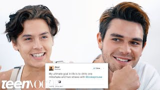 Download Riverdale's Cole Sprouse & KJ Apa Compete in a Compliment Battle | Teen Vogue Video
