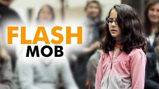 Download AMAZING - Flash Mob - Started by one little girl - Ode to Joy Video
