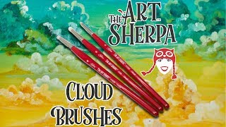 Download The Art Sherpa Cloud Set Beginning Acrylic Paint Brush Silver Brush Limited Video