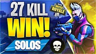 Download 27 KILL SOLO WORLD RECORD ATTEMPT! (Fortnite Battle Royale) Video