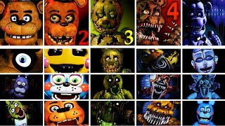Download Five Nights at Freddy's 1 - 4 + Sister Location Jumpscare Simulator | FNAF Fan Game Video